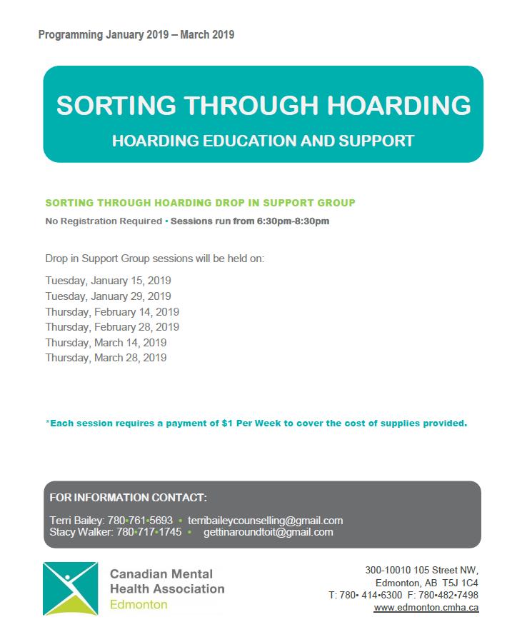 Hoarding Support Cmha Edmonton Region