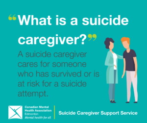 """""""What is a suicide caregiver"""" A suicide caregiver cares for someone who has survived or is at risk for a suicide attempt."""