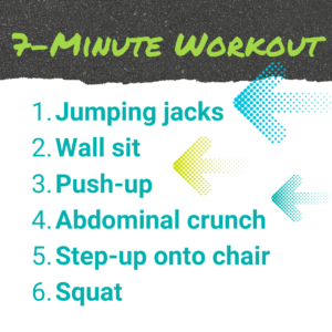 7-minute workout outline