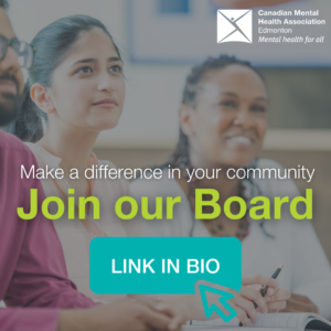 Image of people sitting at a table together. Text reads 'Make a difference in your community. Join our board'